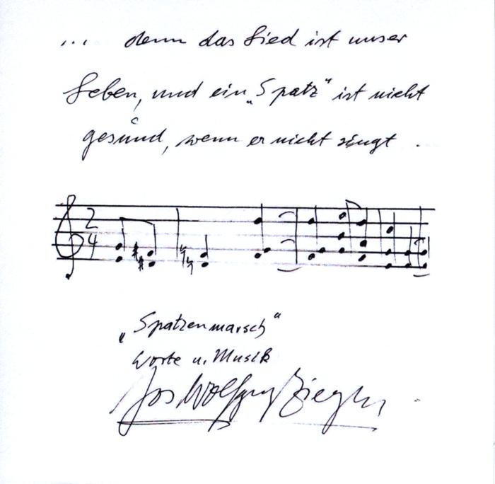 Autograph von J. W. Ziegler